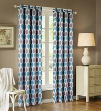 2015 Blue Pattern Cheap Wholesale Fancy Window Curtain Manufacturer