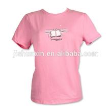 sexy women t shirt, 2014 alibaba online shopping wholesale pink printed women t-shirt, china manufacturer,strech cotton t-shirt