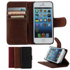 Retro Business Type Credit Card Slots Magnet button Leather Cover For Apple iPhone 5 5s