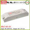 Meanwell PLC-45-15 45w led driver 15v 3a