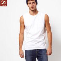 man muscle plain sleeveless white t-shirts