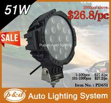 51W LED driving light, mini motorcycle working light