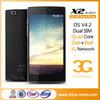 Bulid-in Battery Super Slim Metal Rim X2 5 inch 1G+16G 2MP+8MP MTK6592 Cheapest Octa Core Mobile Phone