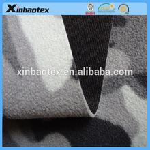 camo micro fleece bonded with TPU film and warp knitting fabric