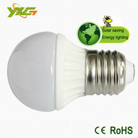 Ultra Bright 12V dc led solar lamp e27 3w light bulbs 90lm/w CE&ROHS 2700k-6000k 3 years warranty