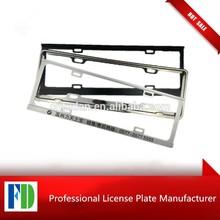 Zinc license plate frame