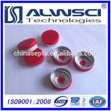 China Supplier 20mm Red Flip Off cap , Crimp cap for pharma vials