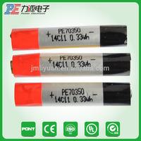 3.7V 100mAh 70350 for disposable electronic e cigarette battery