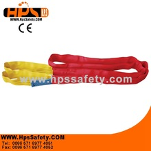 2014 China Hangzhou Manufacturer Red Safety flat webbing sling For Working at heights