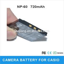 720mah Brand DIGITAL Camera Battery NP-60 for CASIO battery