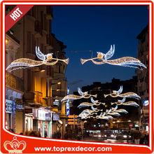 Giant hanging led angel fancy christmas felt ornaments