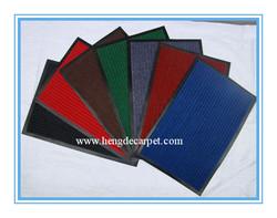 Non-woven ribbed floor polyester mat;PVC door mat; anti-slip door mat
