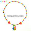 moda artesanal colares de contas de plástico colar de contas para as crianças