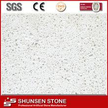 Solid Surface White Quartz Stone/Absolute White Quartz for Hotel Lobby