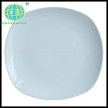 white porcelain dinner plate salad plate