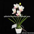 barato por atacado de arranjos de flores em vaso de phalaenopsis orquídeas brancas artificiais