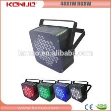 2014 Konuo 48x1W rgbw led par stage light mixer