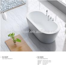 2014 export Seasummer Simple corner Acrylic bathtub with mix valve shower