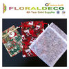 Christmas gift put floral printed organza bag organza pouch wholesale