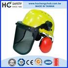 Construction head protection wire mesh visor earmuff safety helmet