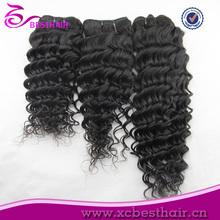 100% Natural color deep wave velvet humn virgin indian remy hair