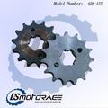 Ds delantero de la motocicleta de la rueda dentada 428-15t piñón frontal de acero