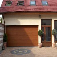 Automatic garage door with PPGI steel panel, flat and single panel garage doors