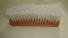 Horse hair shoe cleaning brush