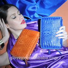 High end fashion women real crocodile leather bag hand bag clutch bag