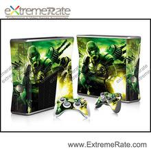 For Xbox 360 Slim Console Vinyl Skin + Two New Controller Vinyl Sticker