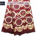 Venda quente do laço suíço africano materiais/africano laço pesado tecido/africano laço seco