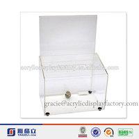 Factory Handmade Manufacturing Acrylic Charity Donation Box