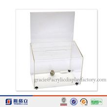 Factory Handmade Manufacturing Acrylic Charity Donation Box