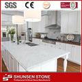 Pré-fabricadas branca pura pedra de quartzo artificial da bancada da cozinha