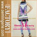 2014 fantasia top borboleta azul roxo volta detalhe de proa borboleta vestido vestido de verão preço barato para a venda