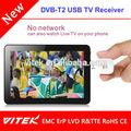 Atsc dvb-t2 isdb- t usb sintonizador de tv para tablet android