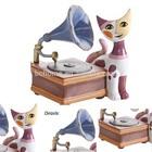 Whloe Rosina Wachtmeister Cat Classic Trumpet Music Box