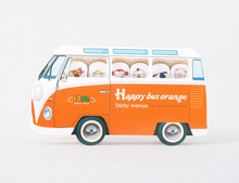 2014 customized mini bus shaped sticky notes/ note pad