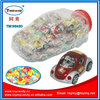 Kids small toy cars from China buyer pull back car with candy mini toy car in big car bottle