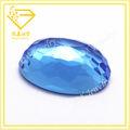 azul rara de fondo plano cianita oval de piedras preciosas de vidrio a granel en hecho en china