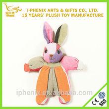Custom colorful stuffed plush bunny rabbit baby toys funny plush bunny rabbit