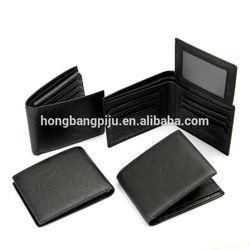 custom pu leather mens wallet for men
