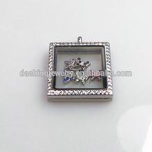 jewelry glass lockets square shape