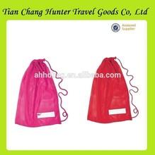 wholesale popular travelling new nylon mesh drawstring bag