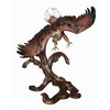 Casting bronze eagle sculptures, brass animal bird statues for home decor