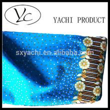 Algodão azul de cetim roupa de cama impressão em tecido de algodão