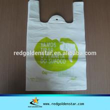 LDPE supermarket shopping bag plastic vest hand bags