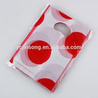transparent resealed promotional plastic wine bottle gift bags
