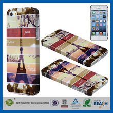 C&T Fashional mobile phone eiffel tower pattern bling crystal hard case productive skin for iphone5/5s