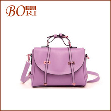 large leather fashionable tote bag for girl tote bag with side pockets